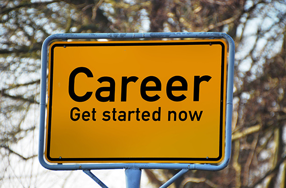 Career Starts Here Road Sign