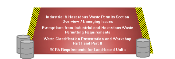 Section Overview & Emerging Issues, Exemptions from I&HW Permitting Requirements, Waste Classification Part I & Part II, RCRA for Land-based Units