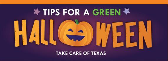 Green Halloween infographic