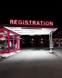 Registration neon signage