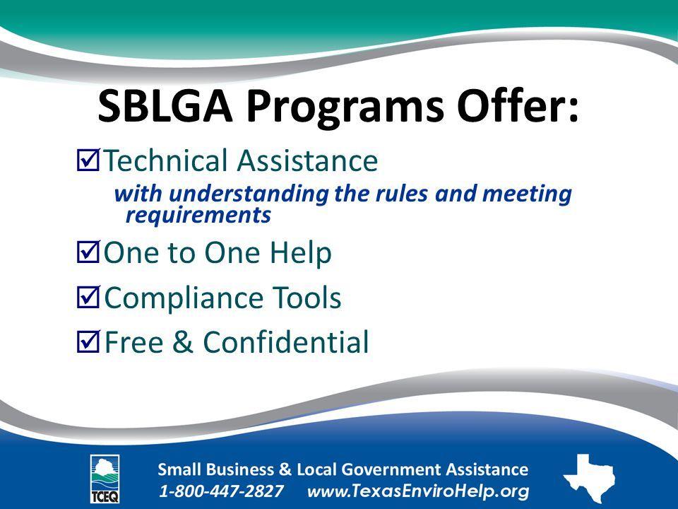 SBLGA Program Offerings Slide