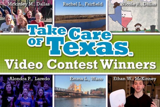 Take Care of Texas Video Contest Winners Photo Collage