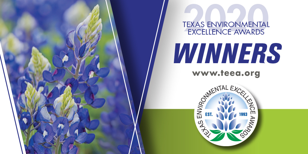 Texas Environmental Excellence winner slide with logo