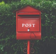 Red colored mail box