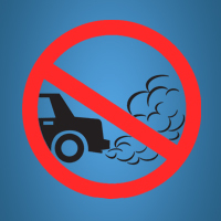 no idling car logo