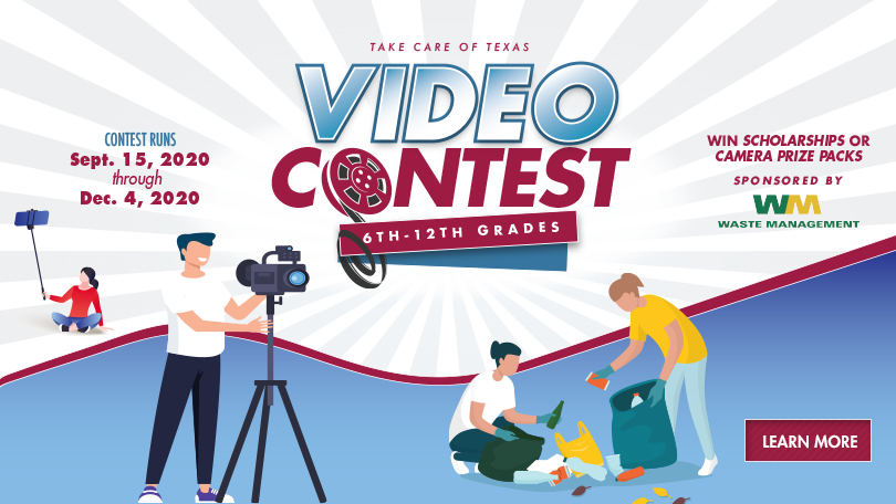 Take Care of Texas Video Contest Graphic
