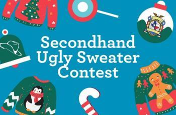 Ugly sweater contest graphic