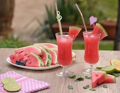 Watermelon Slices and Smoothies