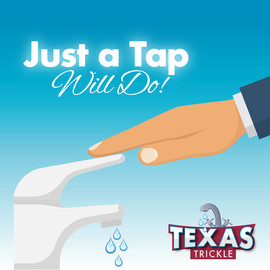 Hand tapping on faucet