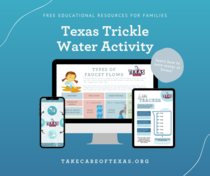 Texas Trickle Water Activity Graphic
