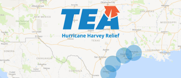 Texas Map with TEA Logo
