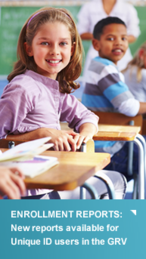 enrollment reports sidebar