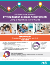 Driving English Learner Achievement flyer