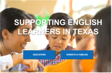 Supporting English Learners in Texas website screenshot