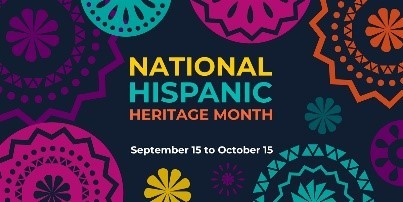 National Hispanic Heritage Month graphic