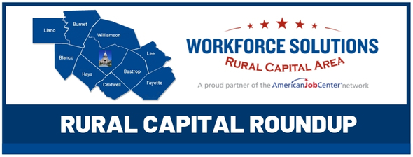 Workforce Solutions Rural Capital Area Roundup Newsletter Cover
