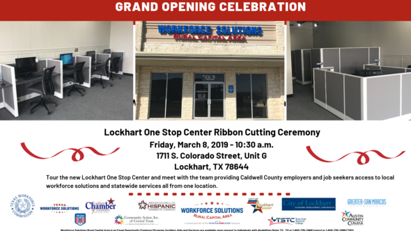 Workforce Solutions Rural Capital Area Ribbon Cutting Ceremony Flyer