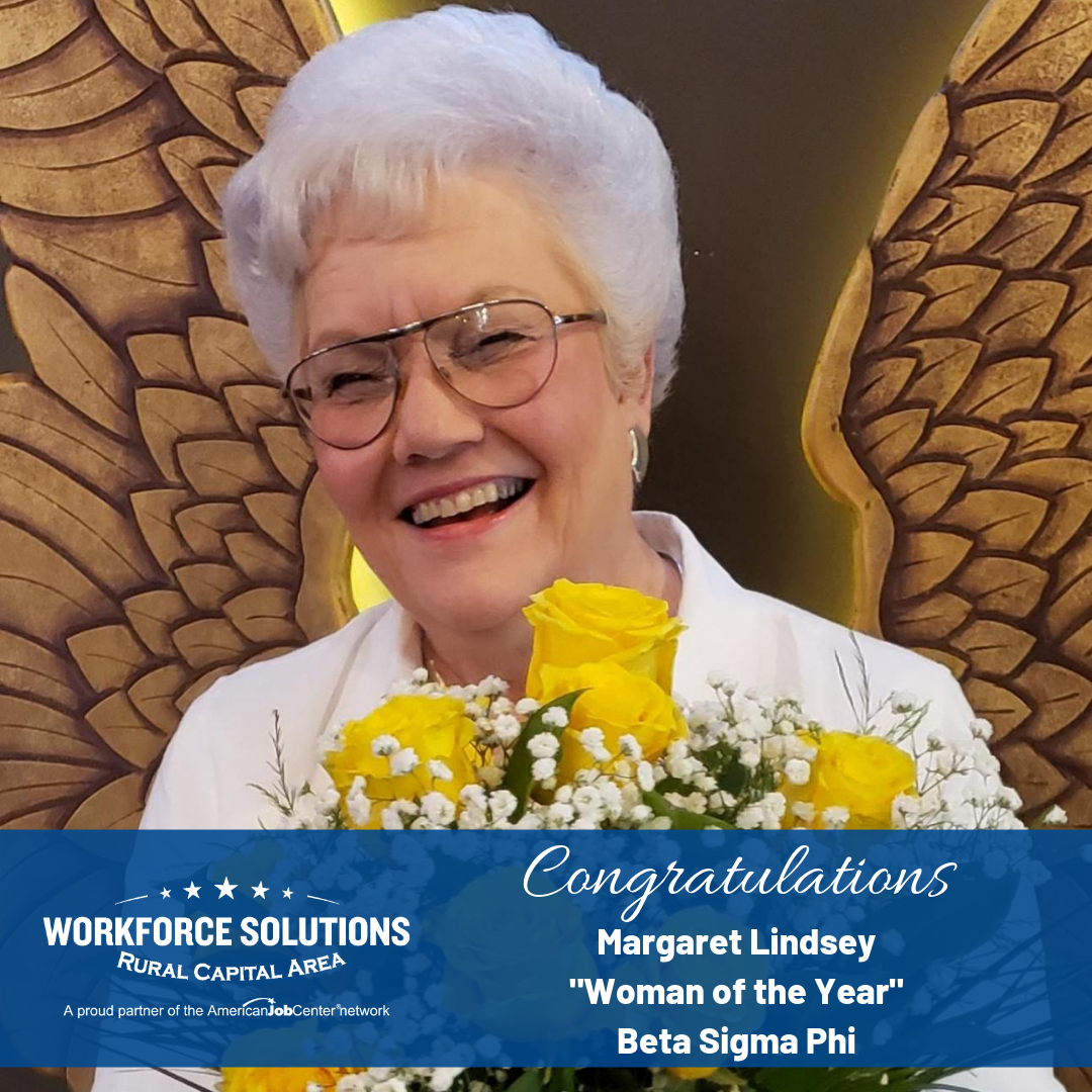 Congratulations to Board Member Margaret Lindsey on Woman of the Year Honors by Beta Sigma Phi