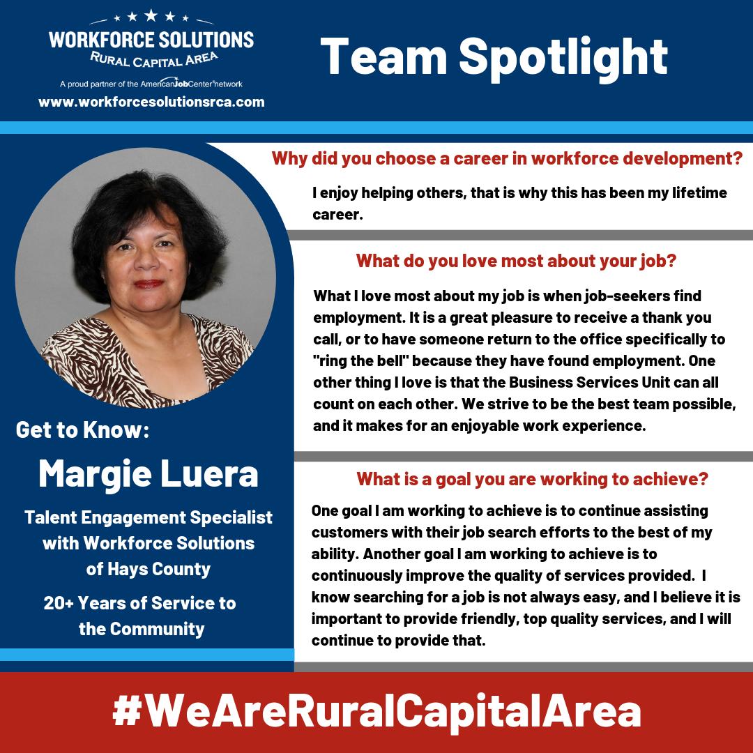 We Are Rural Capital Area Team Spotlight Margie Luera