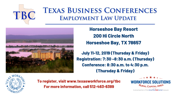 Texas Business Conference at Horseshoe Bay Resort