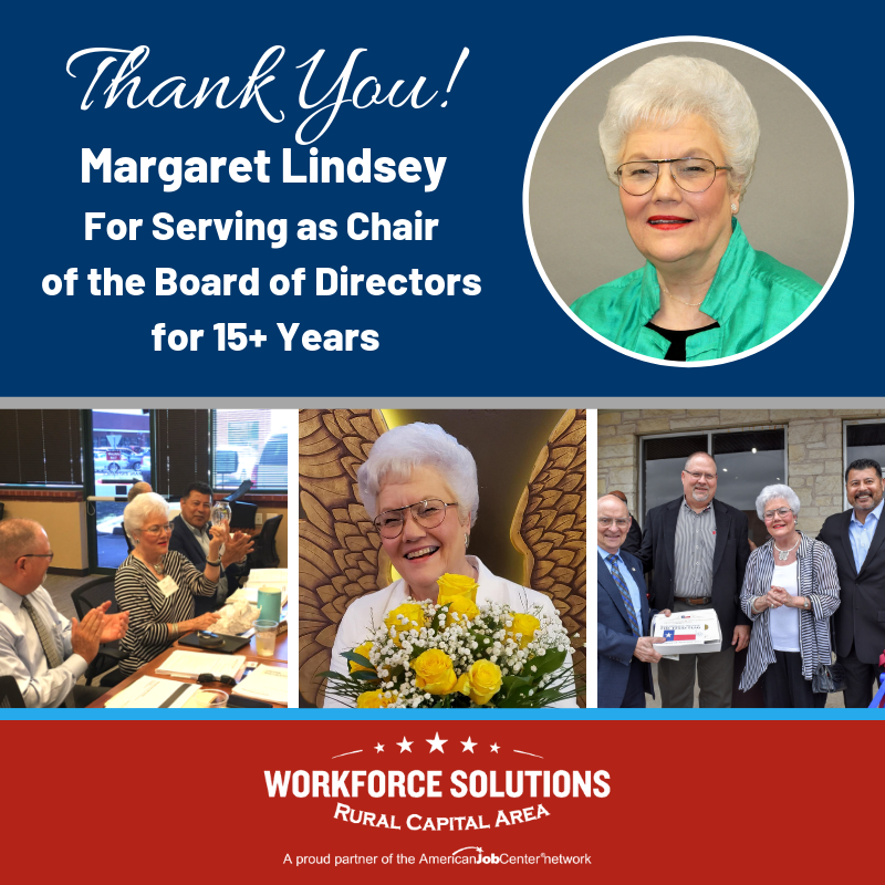 WSRCA Margaret Lindsey Board Chair Thank You