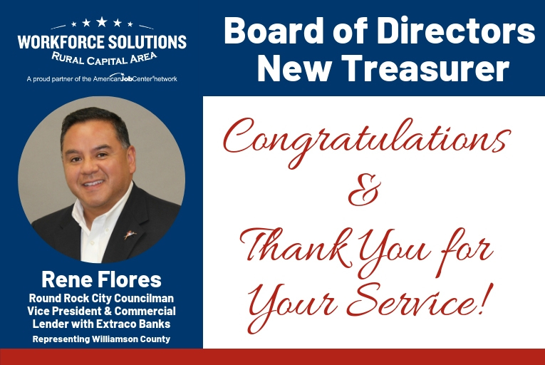WSRCA New Board Treasurer Rene Flores