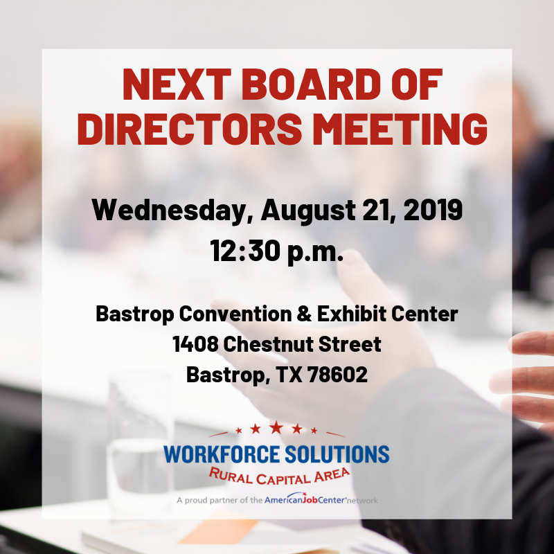 August Board of Directors Meeting