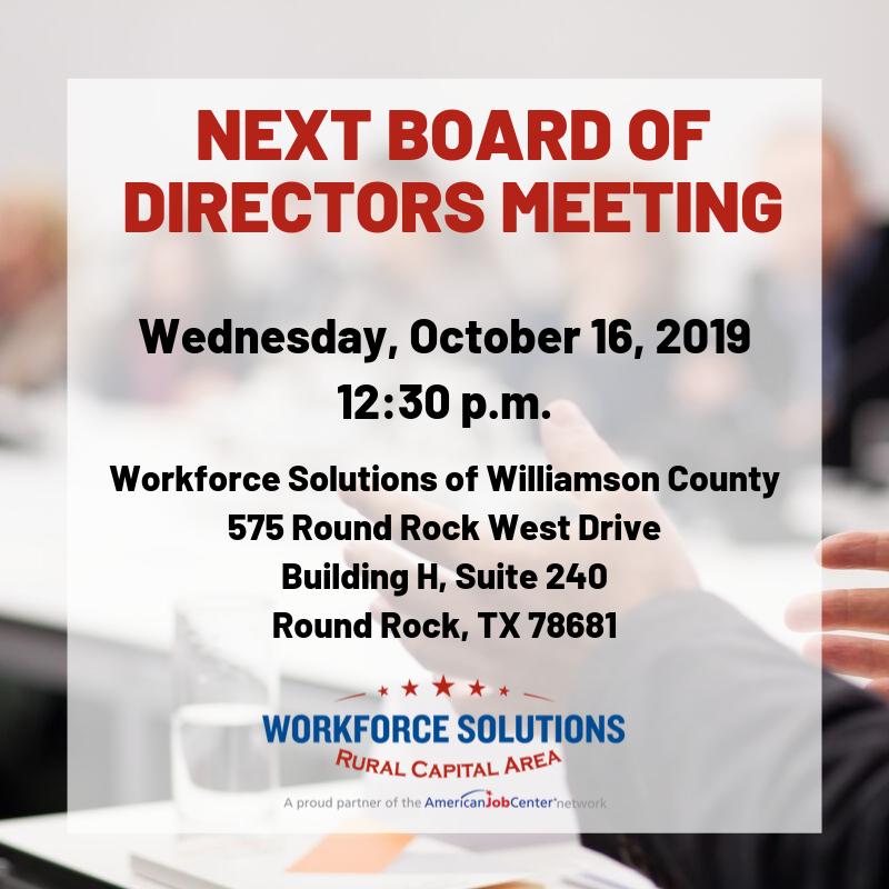 WSRCA Board of Directors Meting October 2019