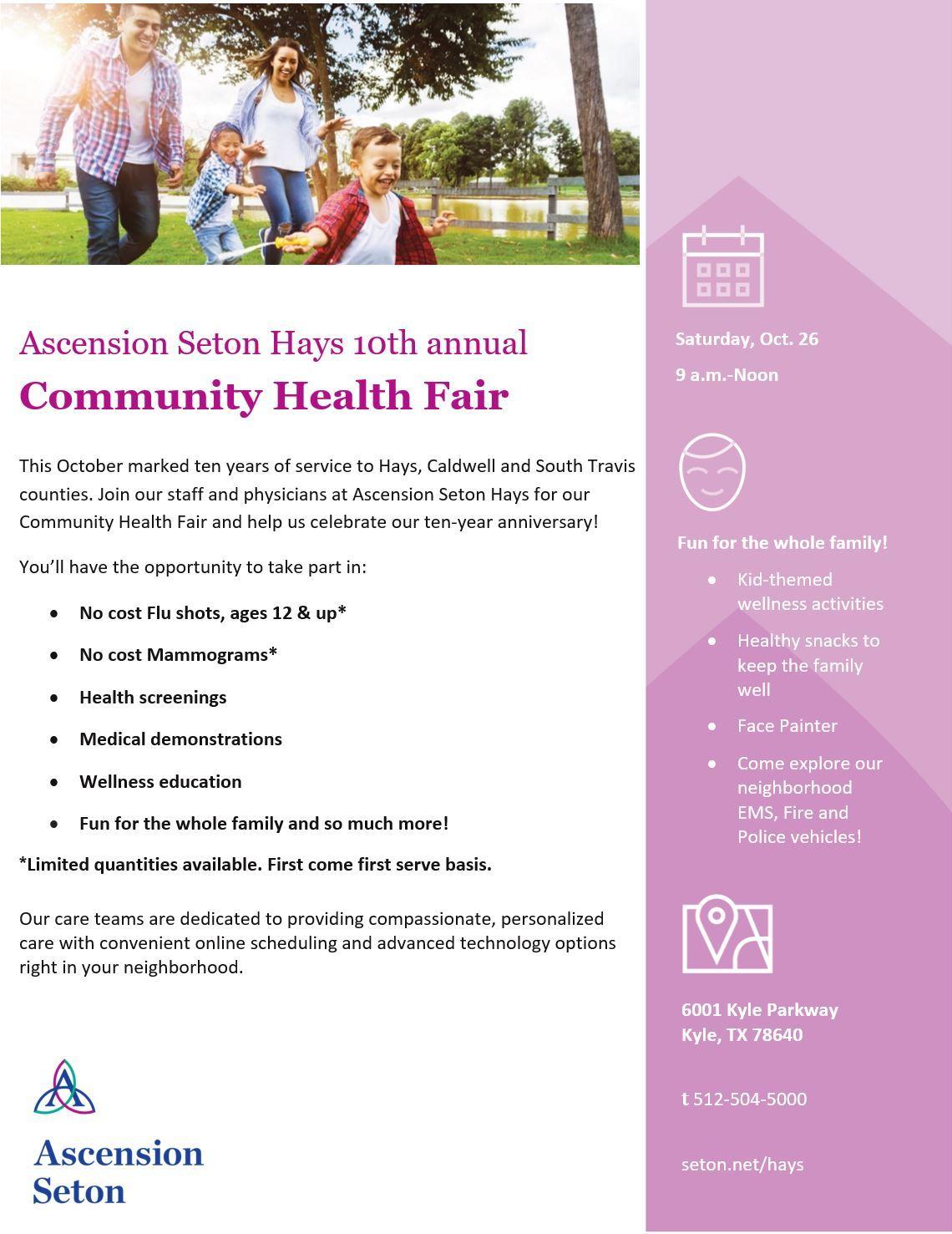 Ascension Seton Hays Community Health Fair Event