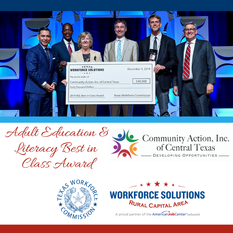 Community Action, Inc. Adult Education & Literacy Best in Class Award