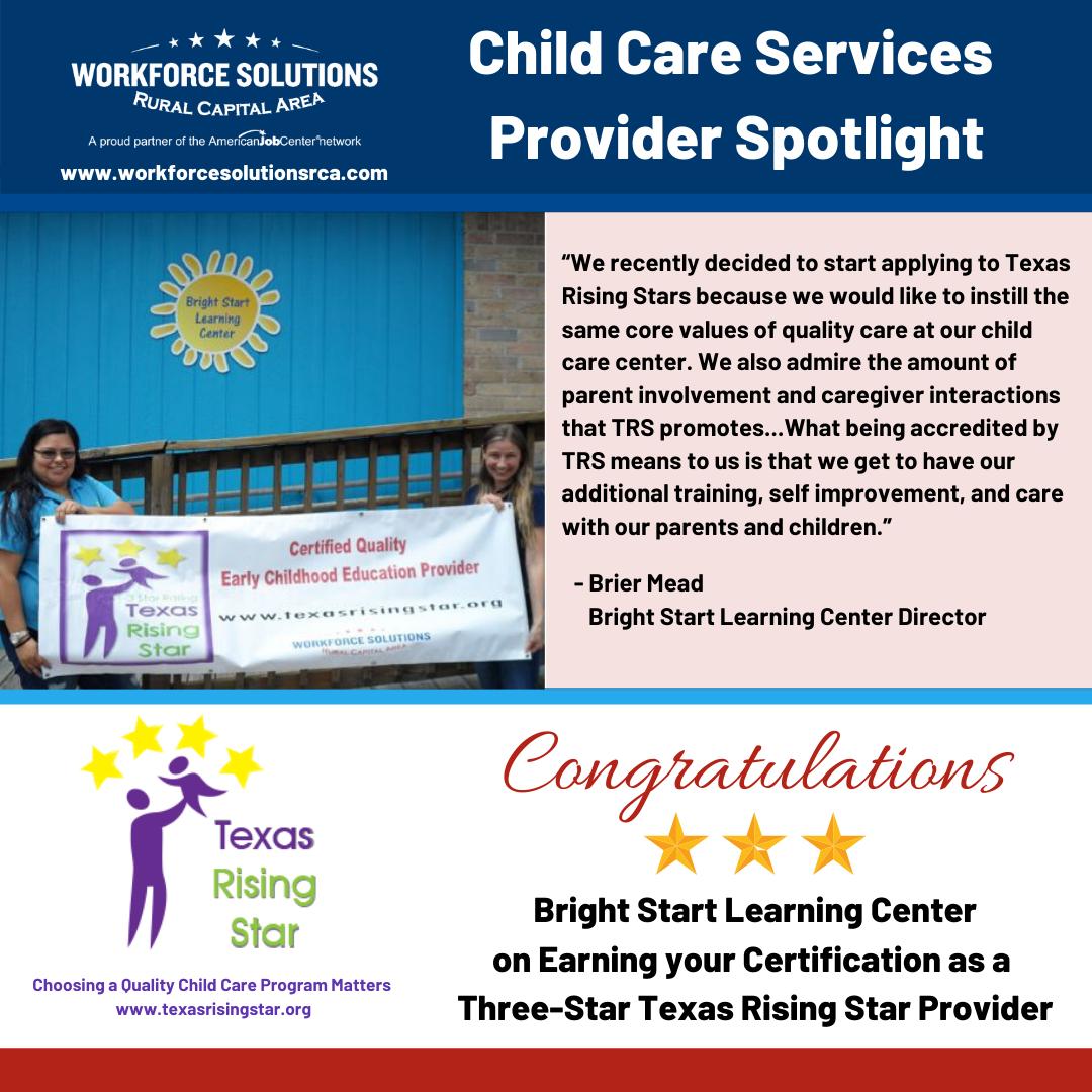 Child Care Services Spotlight Bright Start