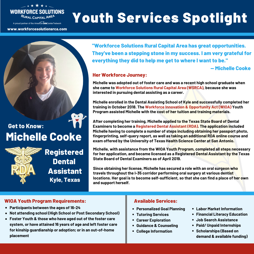 WSRCA Youth Services Spotlight Michelle Cook