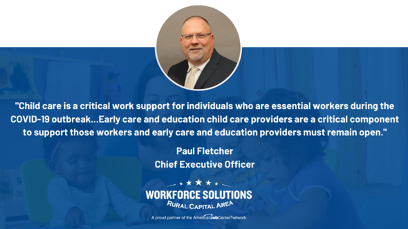 WSRCA Quote Card Paul Fletcher on Child Care is a Critical Work Support