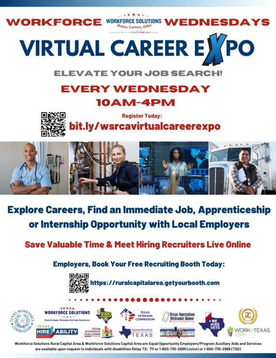 WSRCA Workforce Wednesdays Flyer