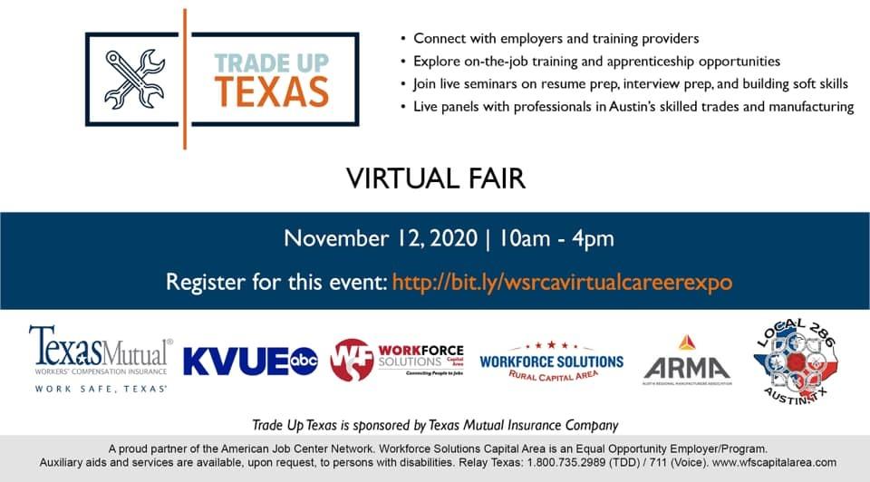 Trade Up Texas Virtual Fair Flyer