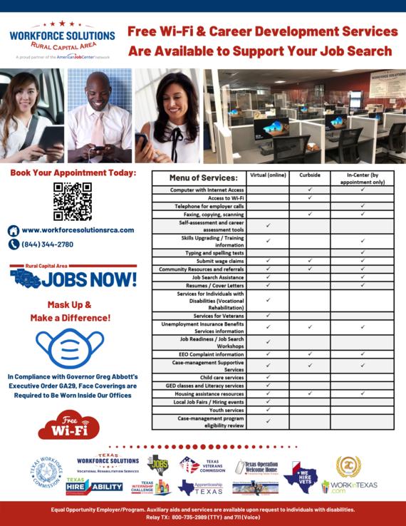 WSRCA Menu of Services Flyer