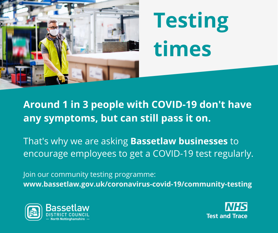 Testing Times: Around 1 in 3 people with COVID-19 don't have any symptoms, but can still pass it on.