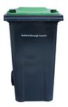 green lidded bin