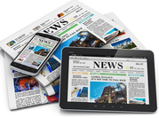 Newspapers on mobiles and tablets