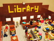 Lego model of a library