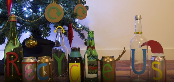 Christmas bottles and jars