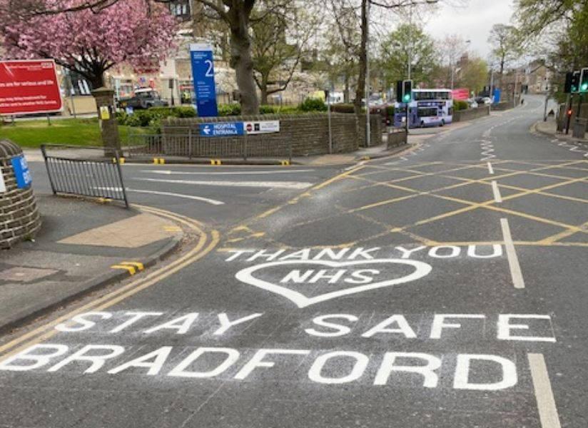 Thank you NHS road markings outside BRI