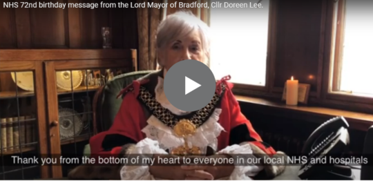 Lord mayor's birthday message to the NHS