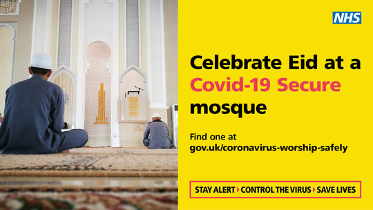 Celebrate Eid at a Covid Secure Mosque