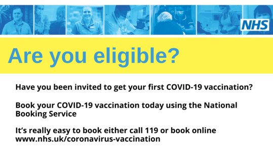 Are you eligible for your COVID vaccination