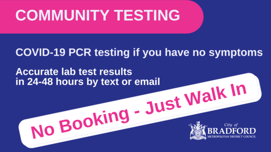 COVID PCR Pop up testing