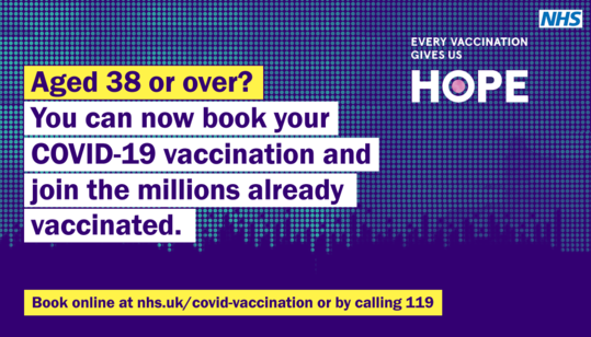 Vaccine over 38's