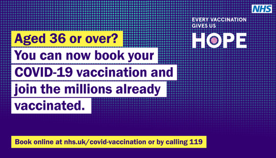 Covid Vaccination 36 and over