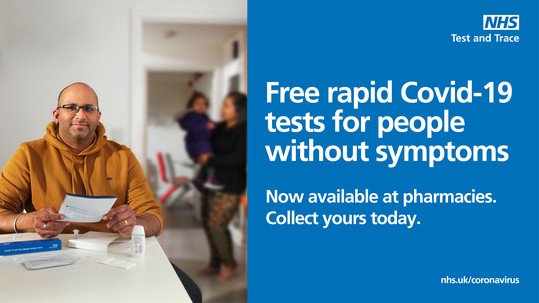 Free rapid test kits to collect from pharmacies