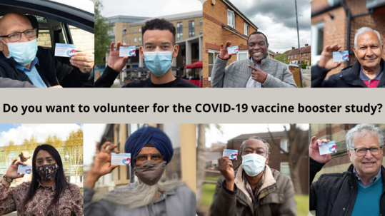 Do you want o volunteer for the Covid vaccine booster study